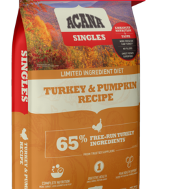 Acana Dog Singles Turkey & Pumpkin - Grain-Free 25lb