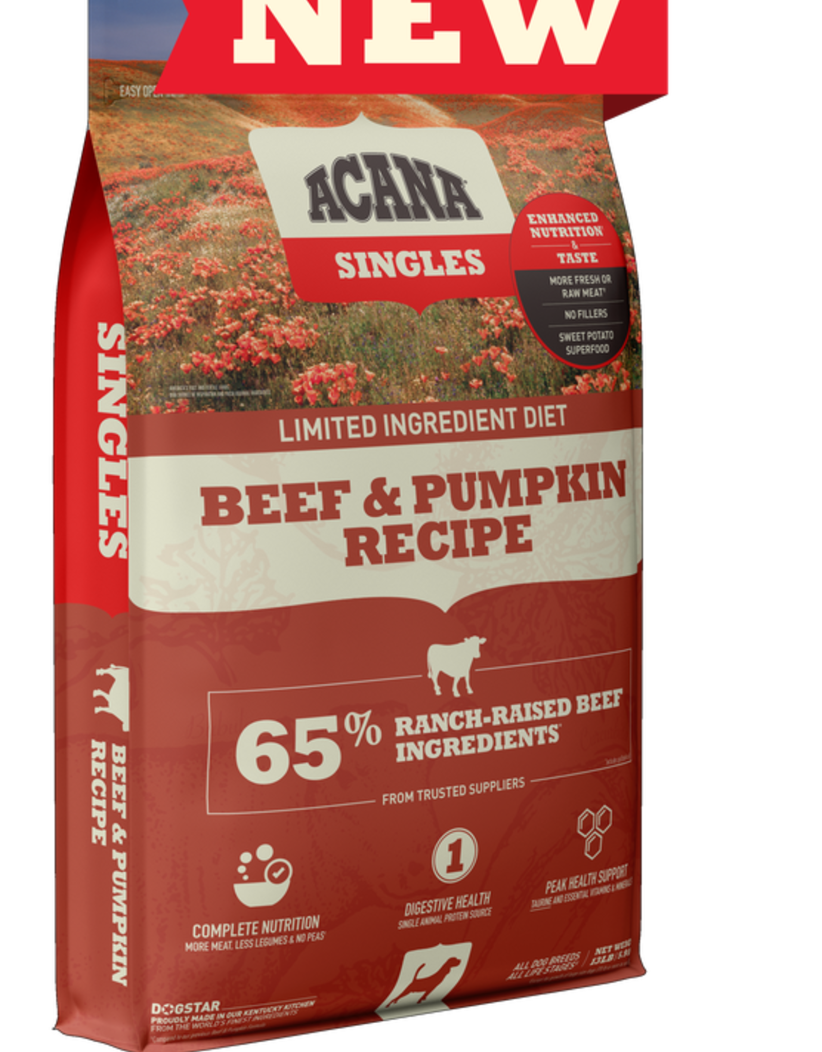Acana Dog Singles Beef & Pumpkin - Grain-Free 13lb