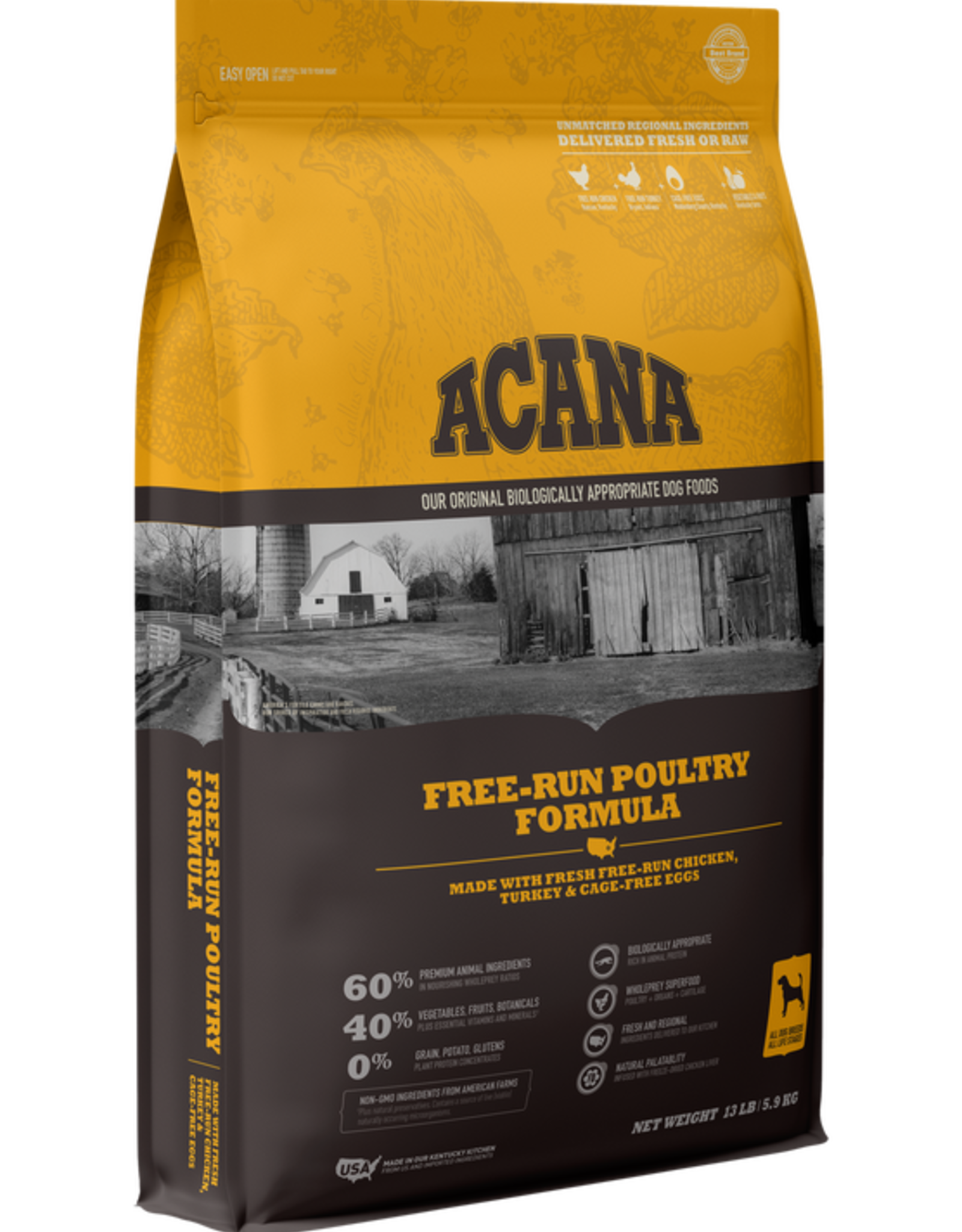 Acana Dog Heritage Free-Run Poultry - Grain-Free 13lb