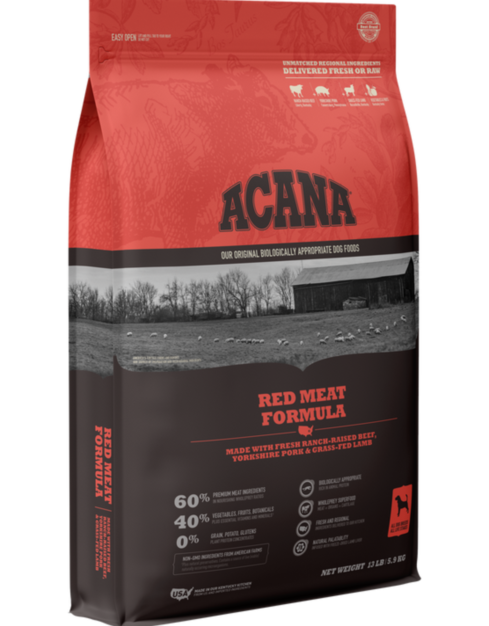 Acana Dog Heritage Red Meat - Grain-Free 4.5lb