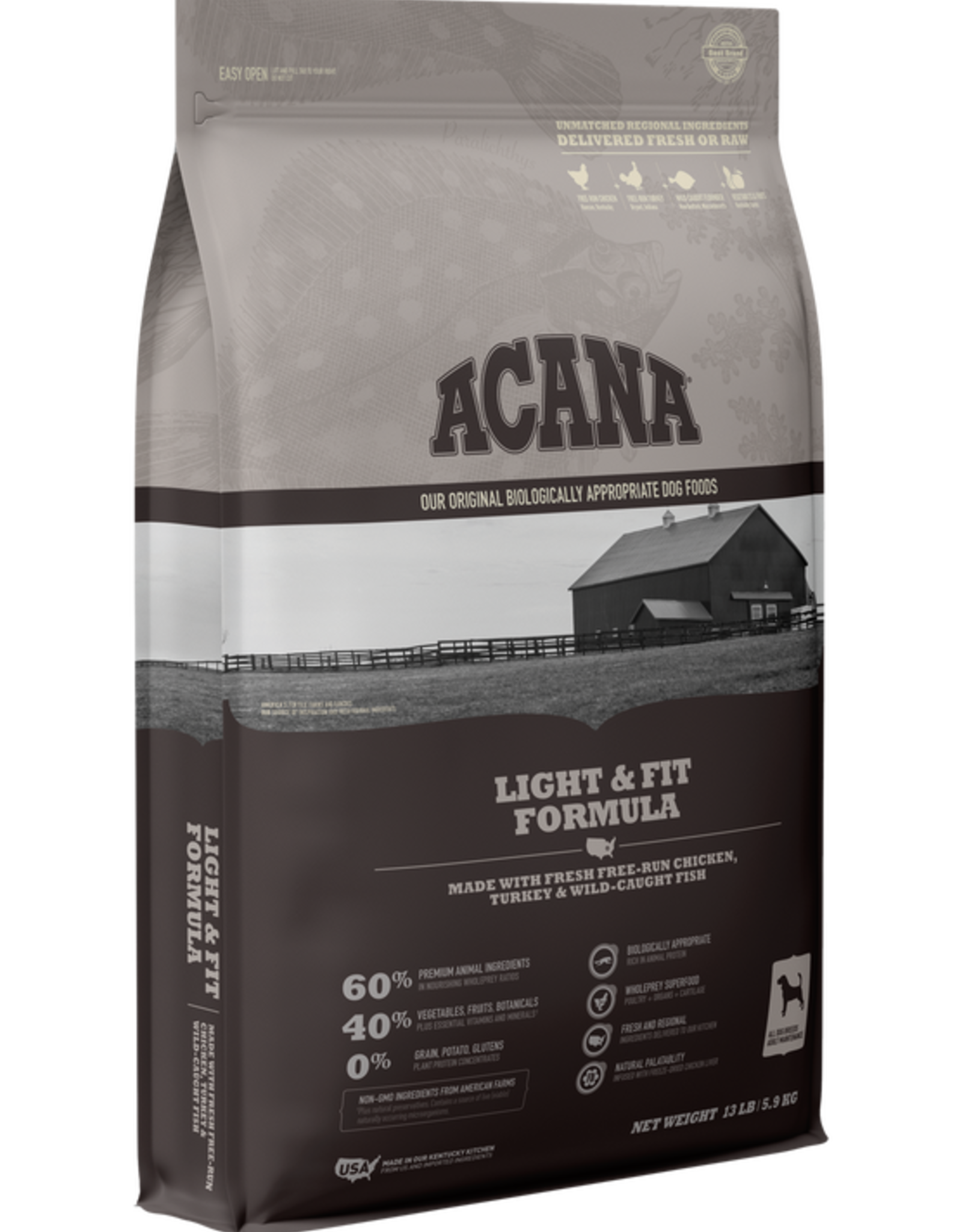 Acana Dog Heritage Light & Fit - Grain-Free 4.5lb