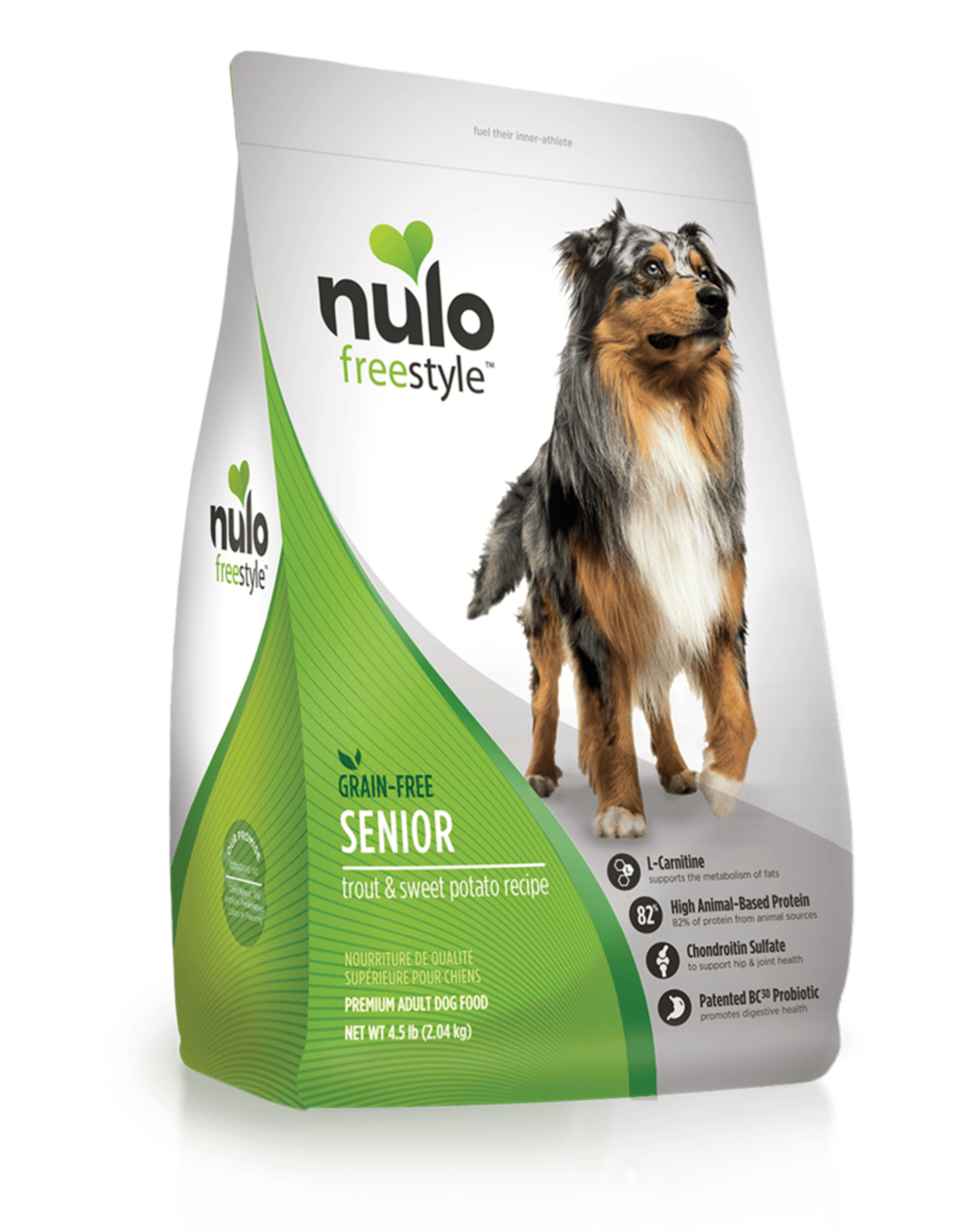 Nulo Dog Freestyle Trout & Sweet Potato Senior - Grain-Free 4.5lb
