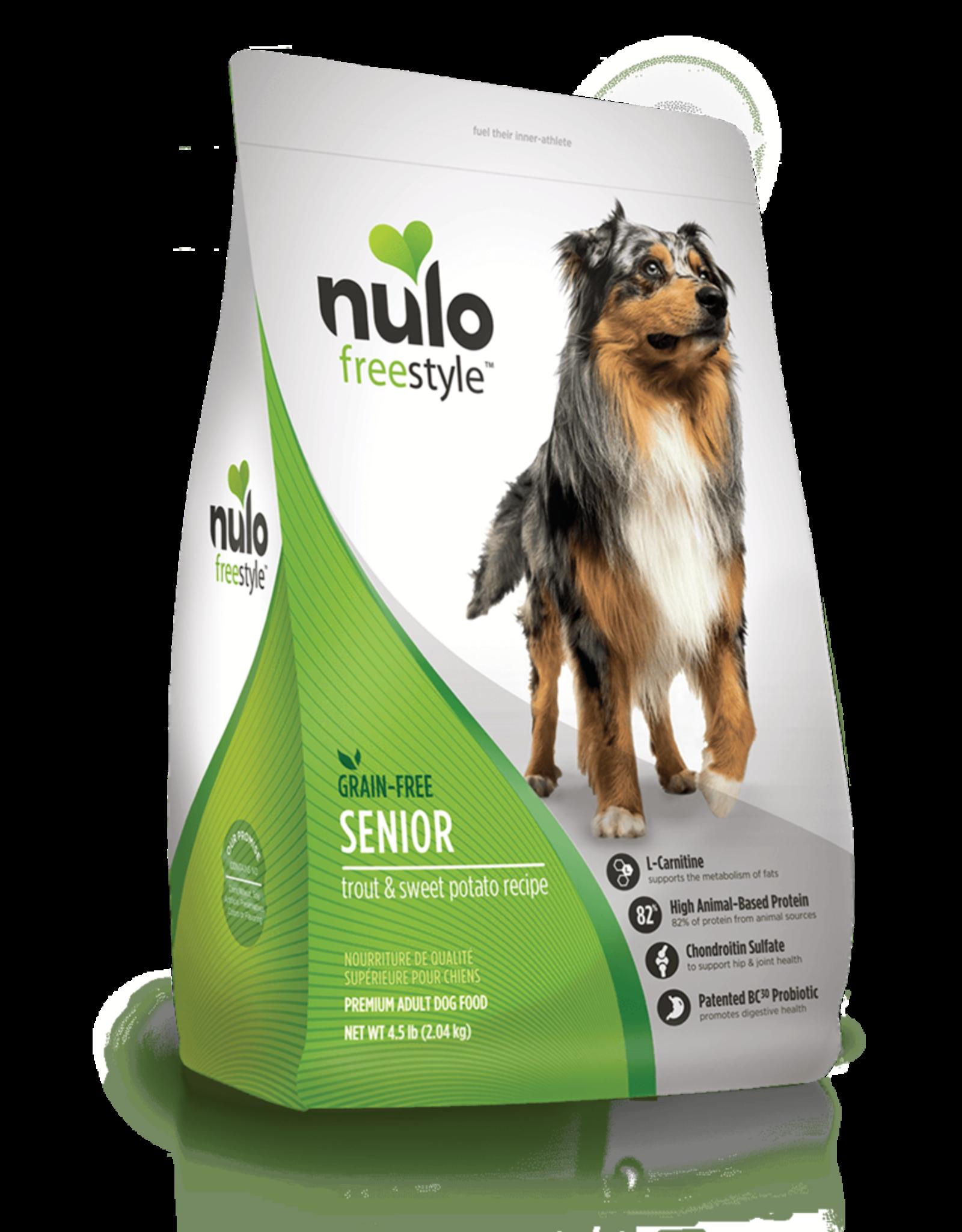 Nulo Dog Freestyle Trout & Sweet Potato Senior - Grain-Free 24lb
