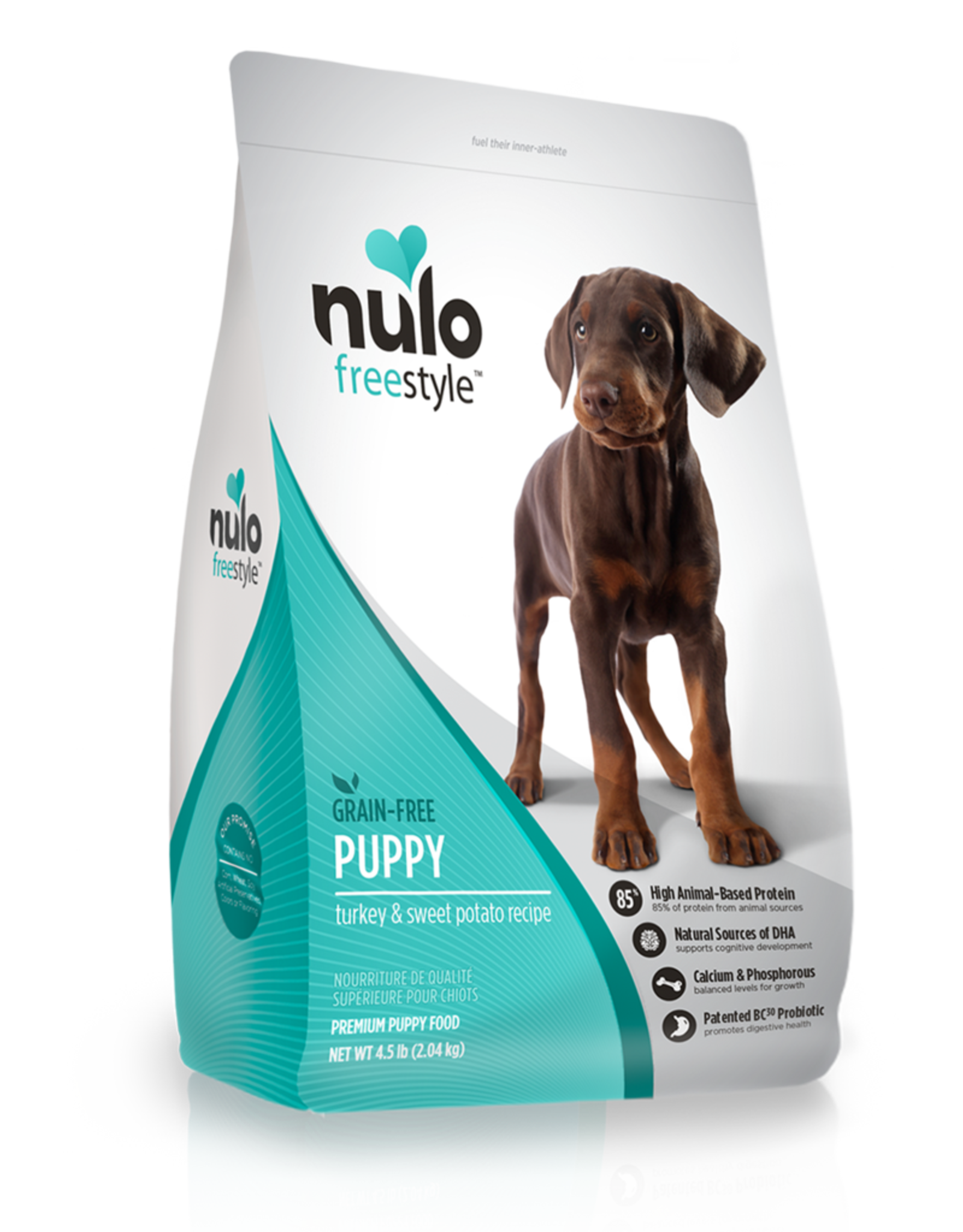 Nulo Dog Freestyle Turkey & Sweet Potato Puppy - Grain-Free 4.5lb