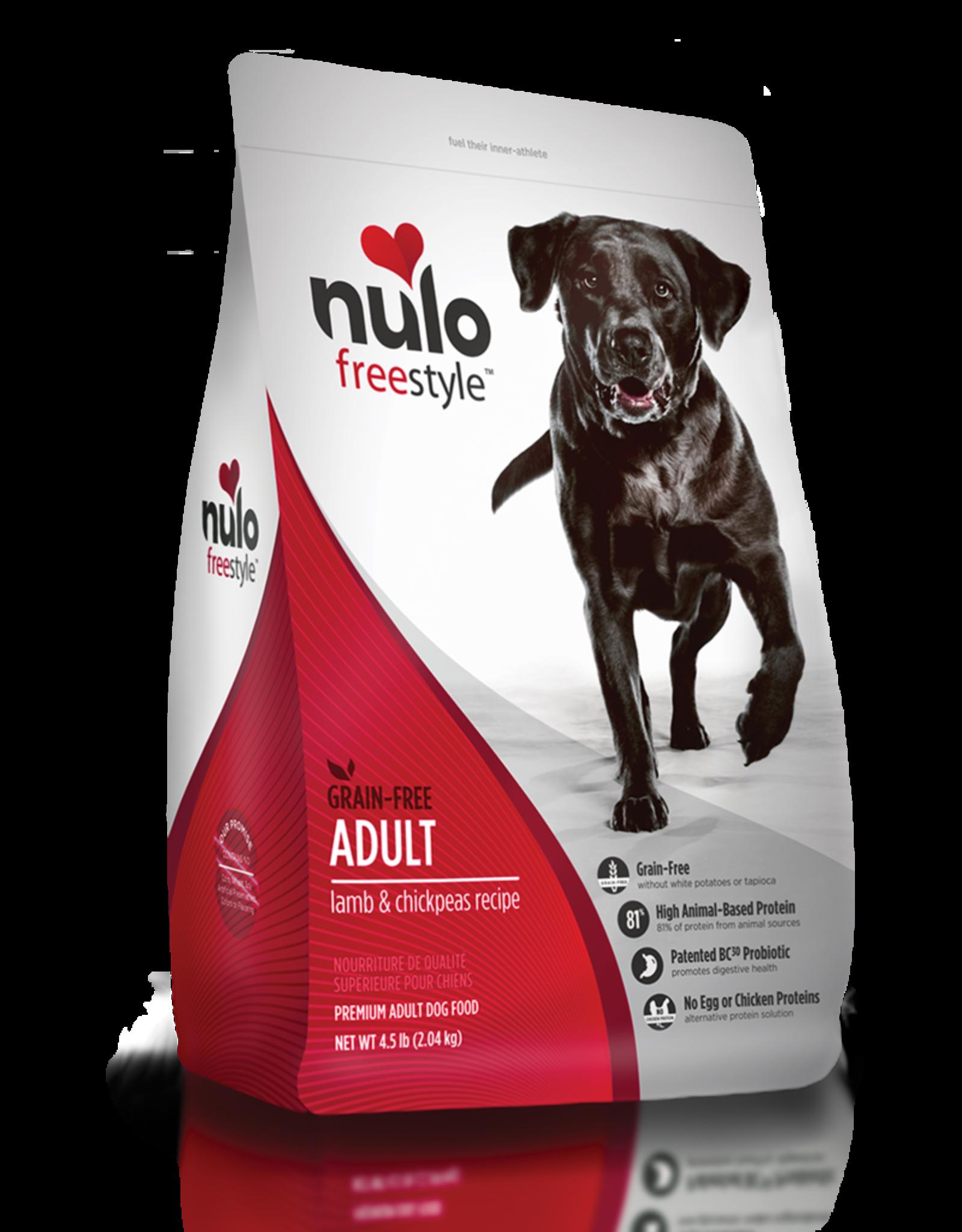 Nulo Dog Freestyle Lamb & Chickpea - Grain Free 4.5lb