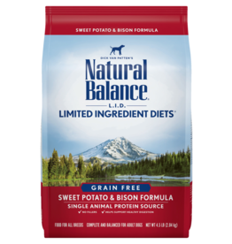 Natural Balance Dog L.I.D. Sweet Potato & Bison - Grain-Free 13lb