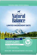 Natural Balance Dog L.I.D. Chicken & Sweet Potato - Grain-Free 13lb