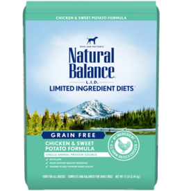 Natural Balance Dog L.I.D. Chicken & Sweet Potato - Grain-Free 26lb