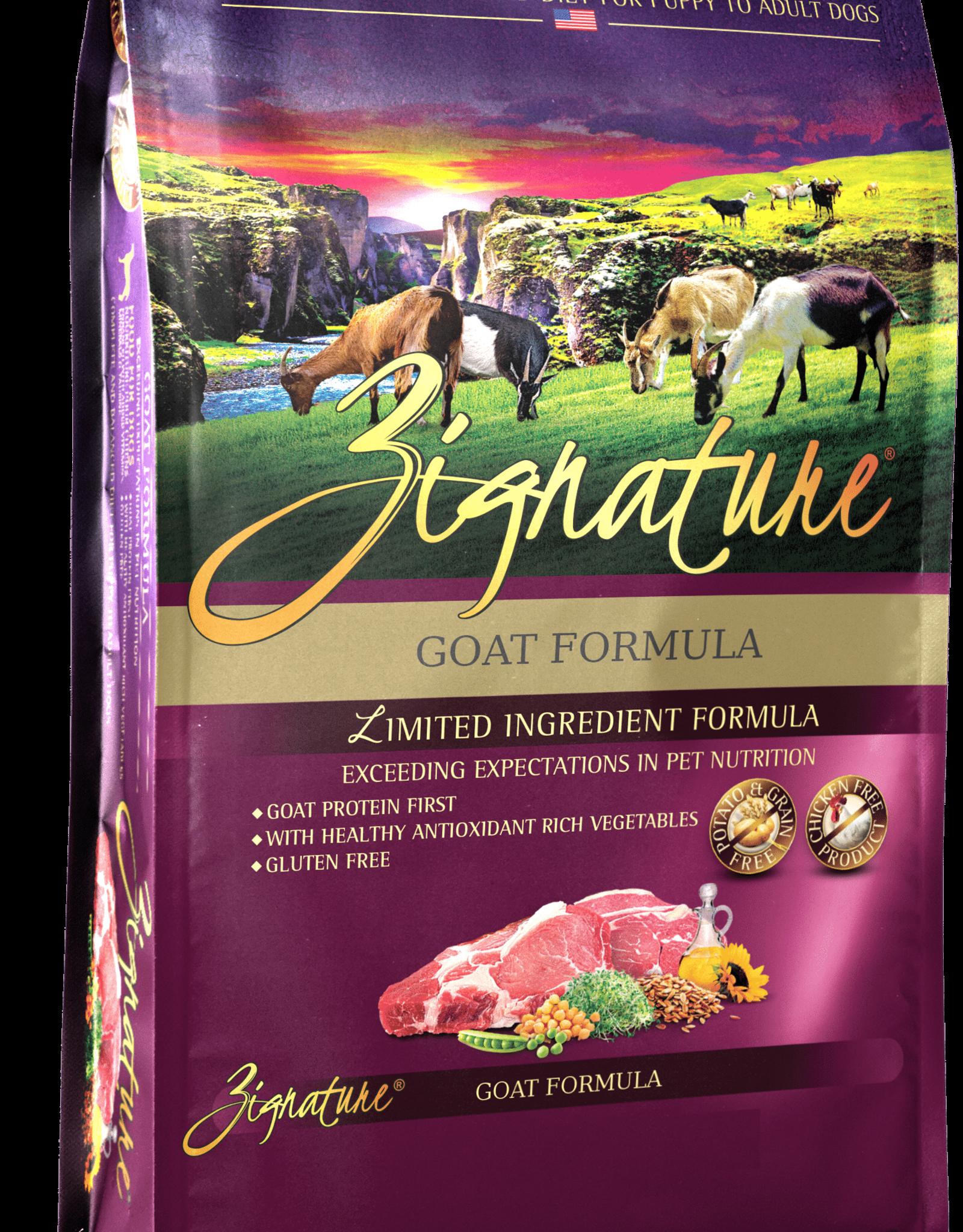 Zignature Dog Goat Formula - Grain-Free 4lb