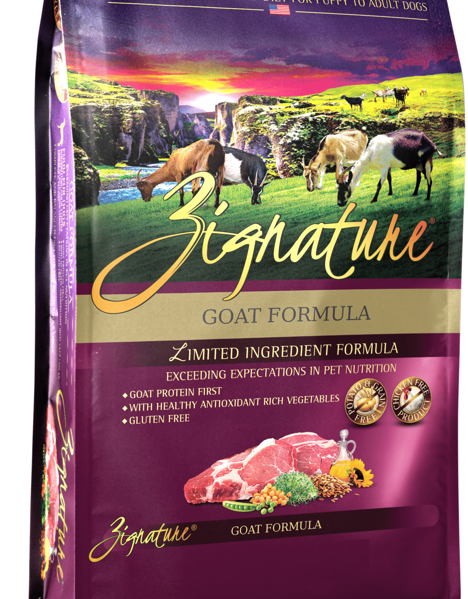 Zignature Dog Goat Formula - Grain-Free 27lb
