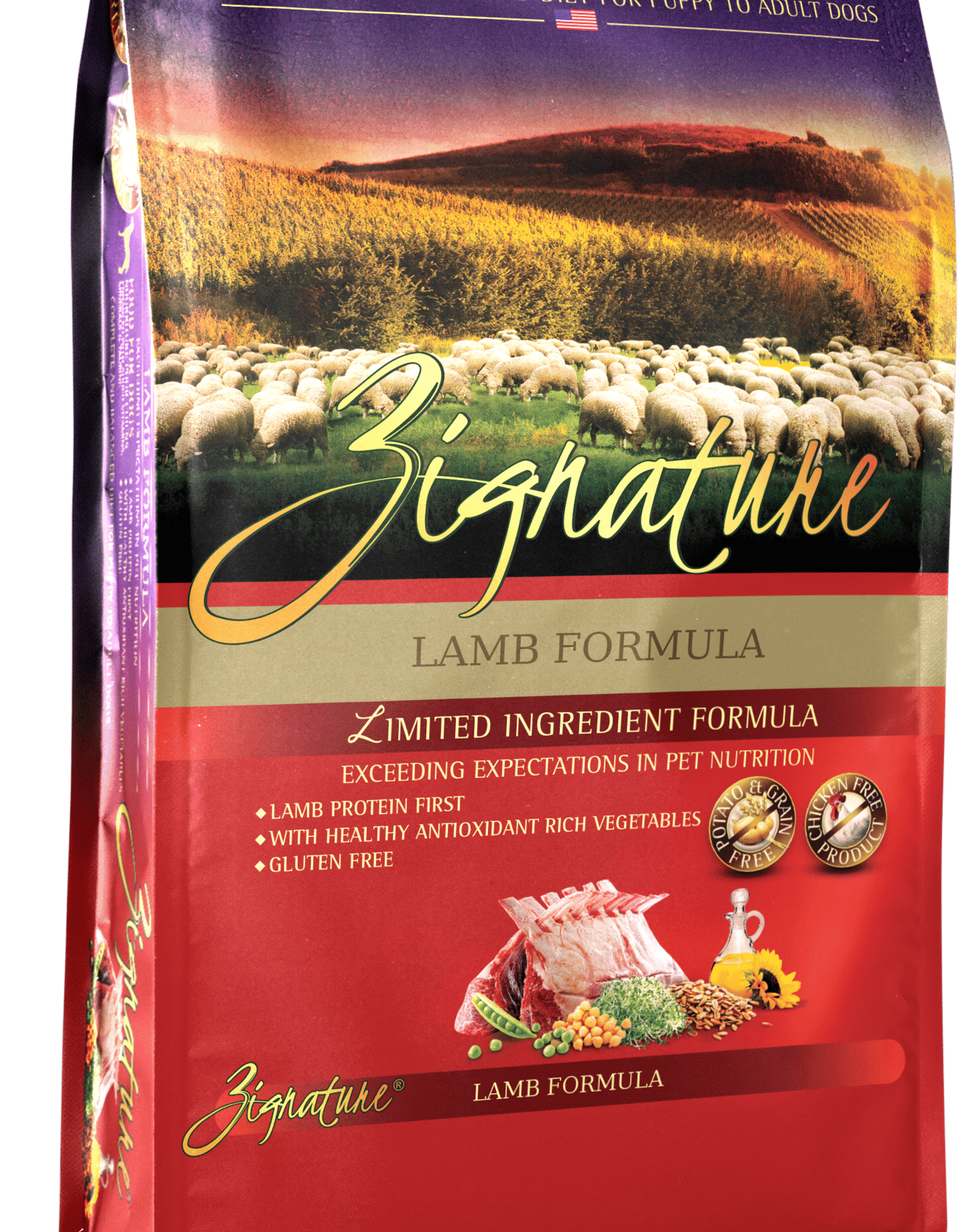 Zignature Dog Lamb Formula - Grain-Free 4lb