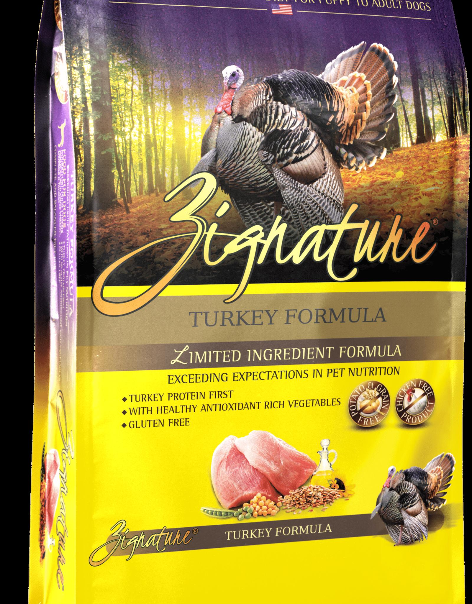Zignature Dog Turkey Formula - Grain-Free 13.5lb