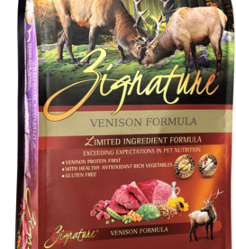 Zignature Dog Venison Formula - Grain-Free 13.5lb