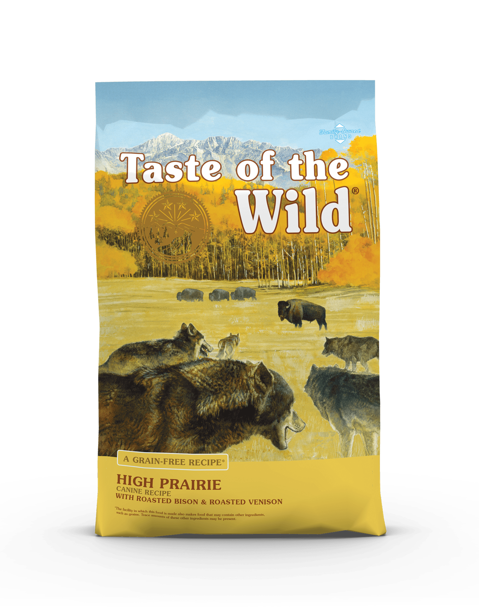Taste of the Wild Pet Food Dog High Prairie Recipe - Grain-Free 28lb