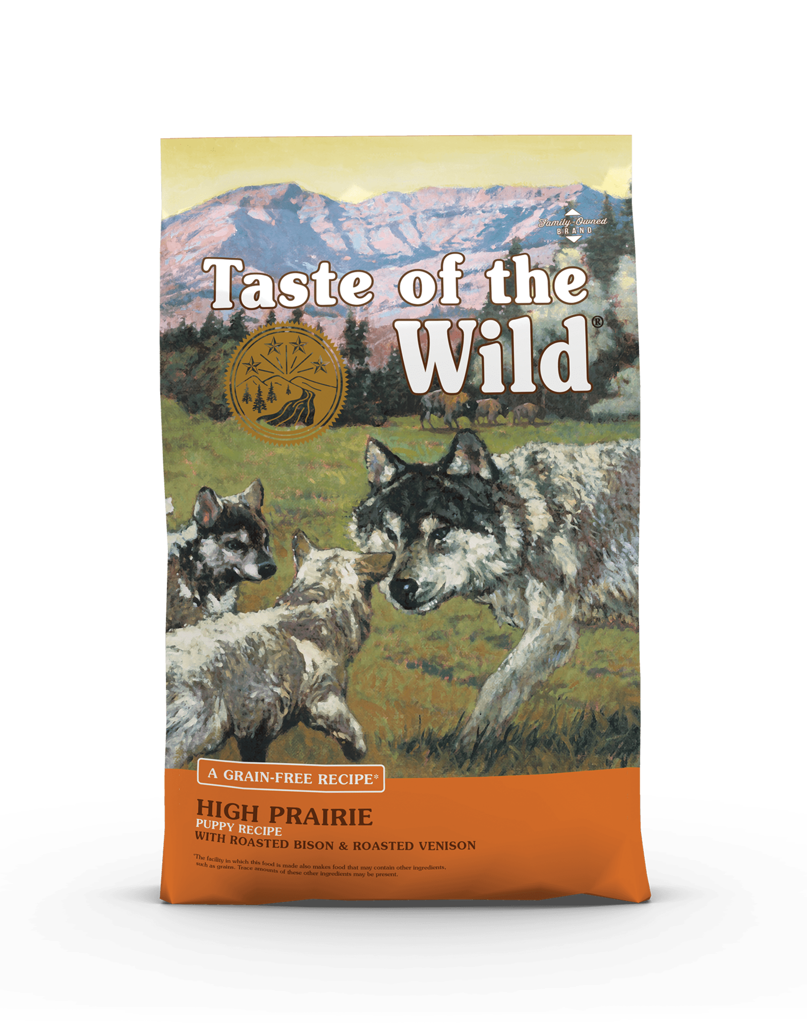 Taste of the Wild Pet Food Dog High Prairie Puppy Recipe - Grain-Free 28lb