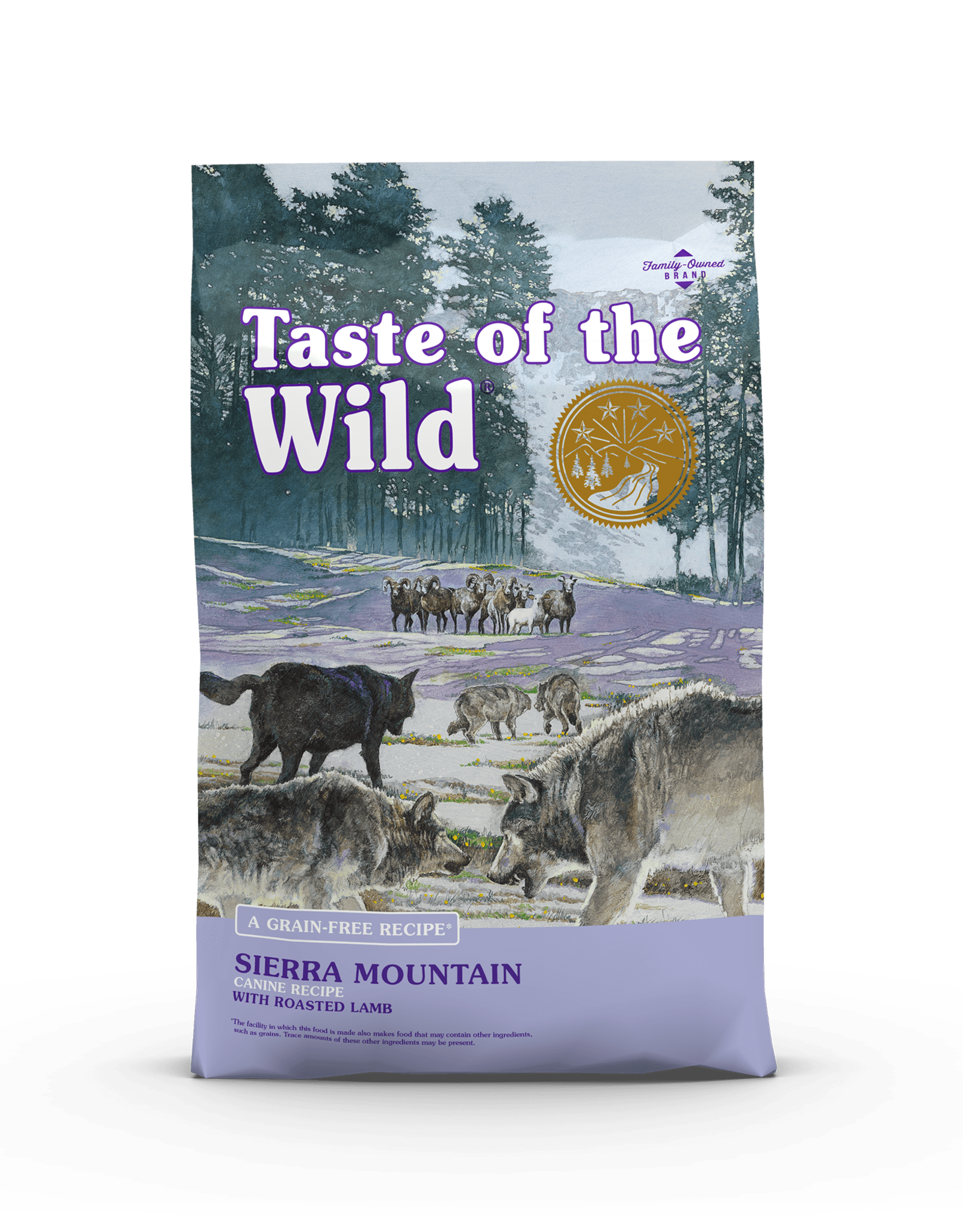Taste of the Wild Pet Food Dog Sierra Mountain Recipe - Grain-Free 5lb