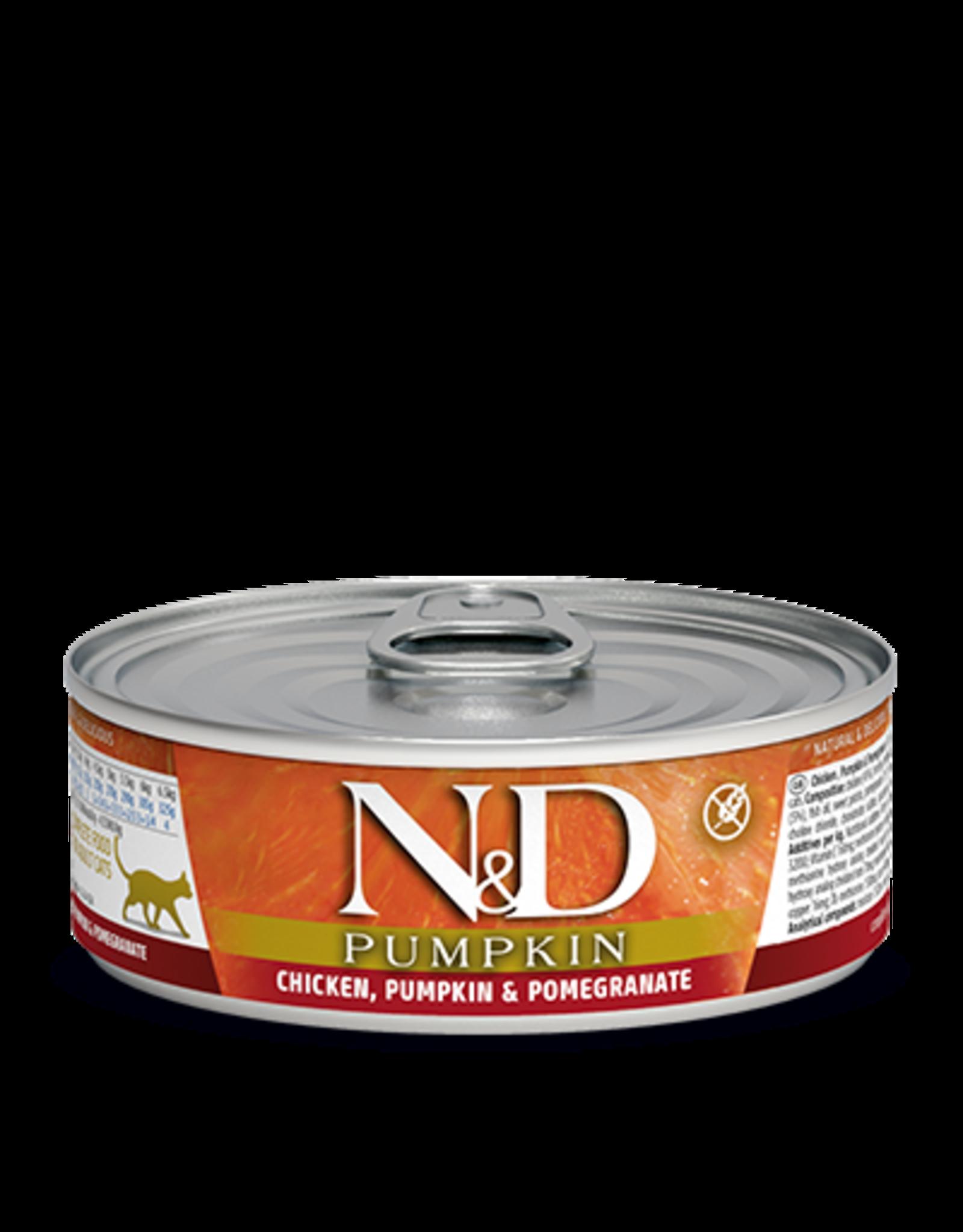 Farmina Cat N&D Chicken, Pumpkin, & Pomegranate Shredded - Grain-Free 2.8oz
