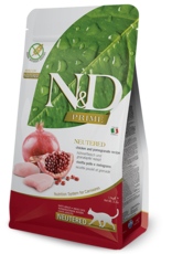 Farmina Cat N&D Prime Chicken & Pomegranate Neutered - Grain-Free 3.3lb