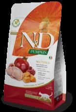 Farmina Cat N&D Pumpkin Quail & Pomegranate Neutered - Grain-Free 3.3lb
