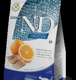 Farmina Cat N&D Ocean Herring & Orange - Grain-Free 3.3lb