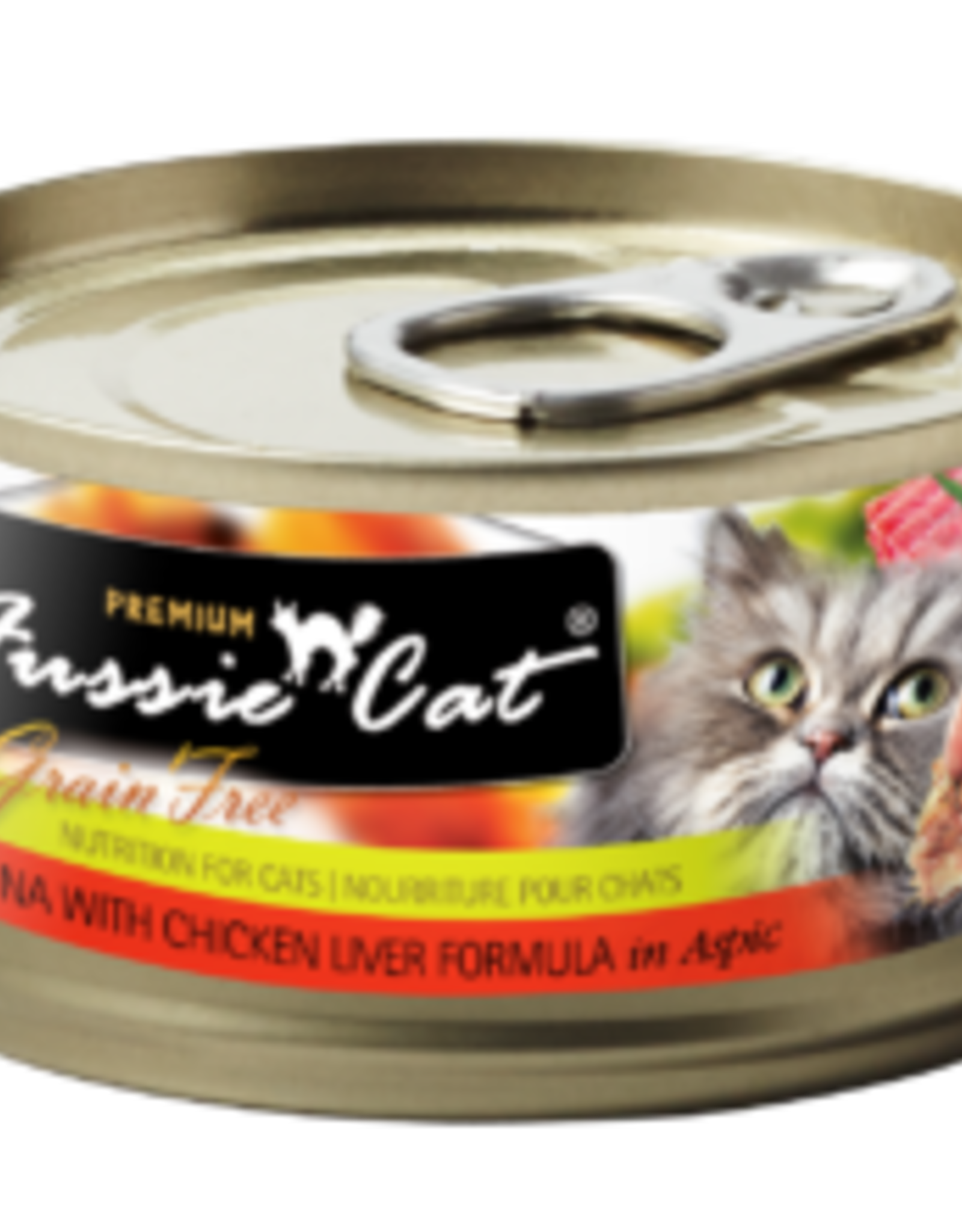 Fussie Cat Cat Tuna & Liver Wet Food - Grain-Free 2.82oz