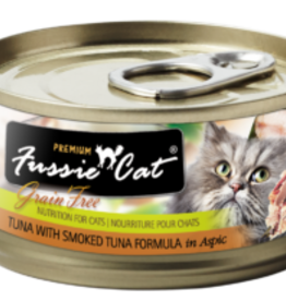 Fussie Cat Cat Tuna & Smoked Tuna Wet Food - Grain-Free 2.82oz