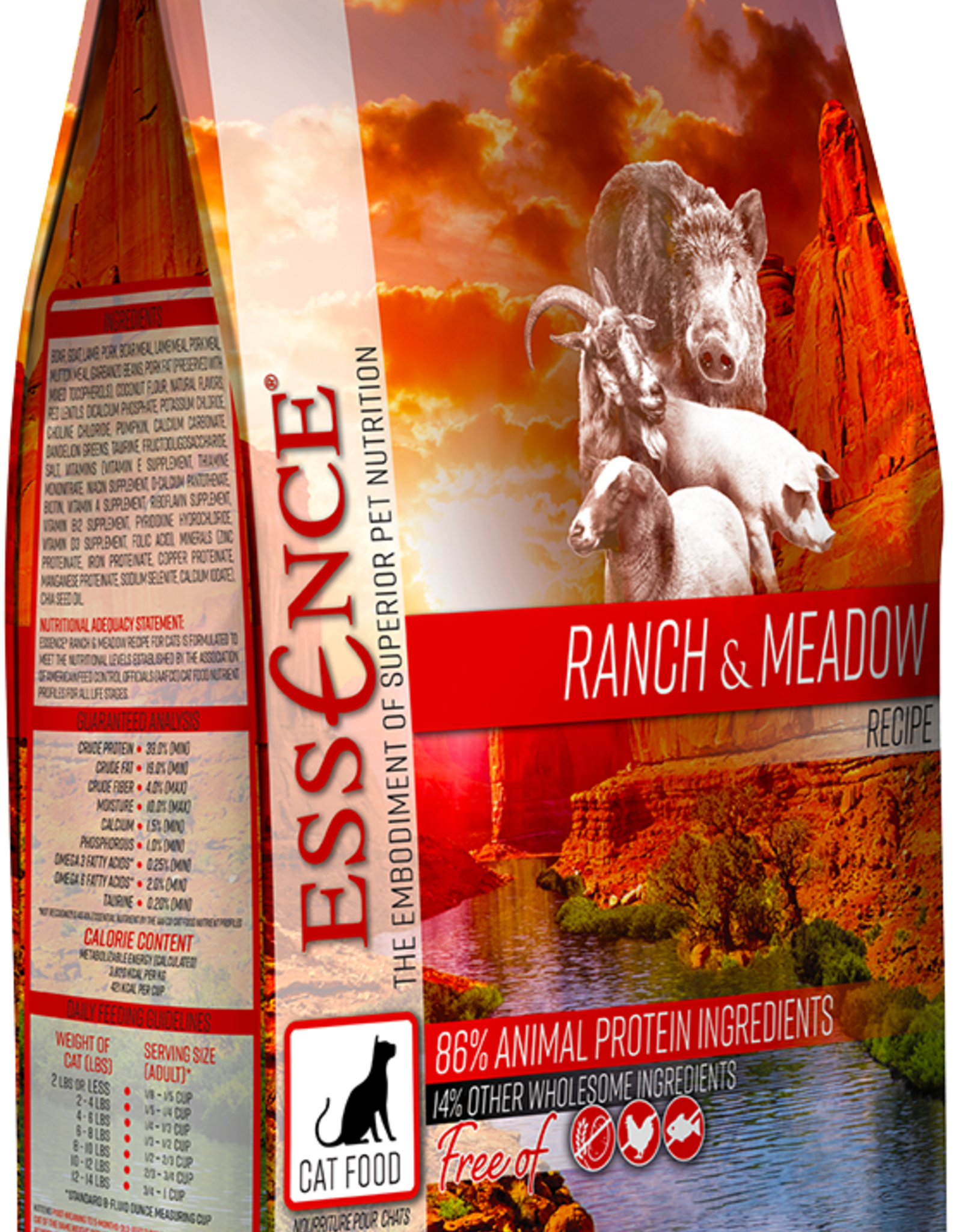 Essence Pet Foods Cat Ranch & Meadow - Grain-Free 10lb