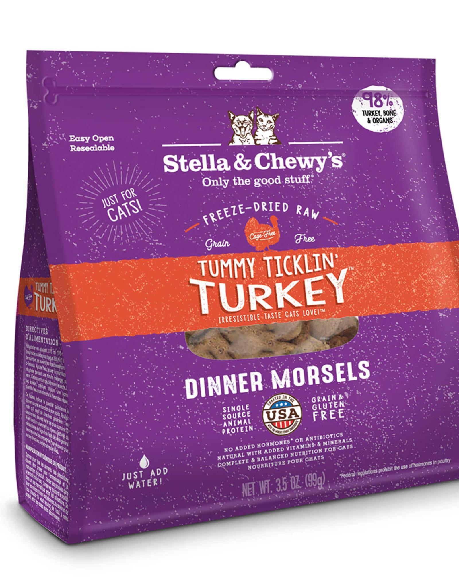 Stella & Chewy's Cat Tummy Ticklin' Turkey Freeze-Dried Raw Dinner 8oz