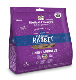 Stella & Chewy's Cat Absolutely Rabbit Freeze-Dried Raw Dinner 8oz