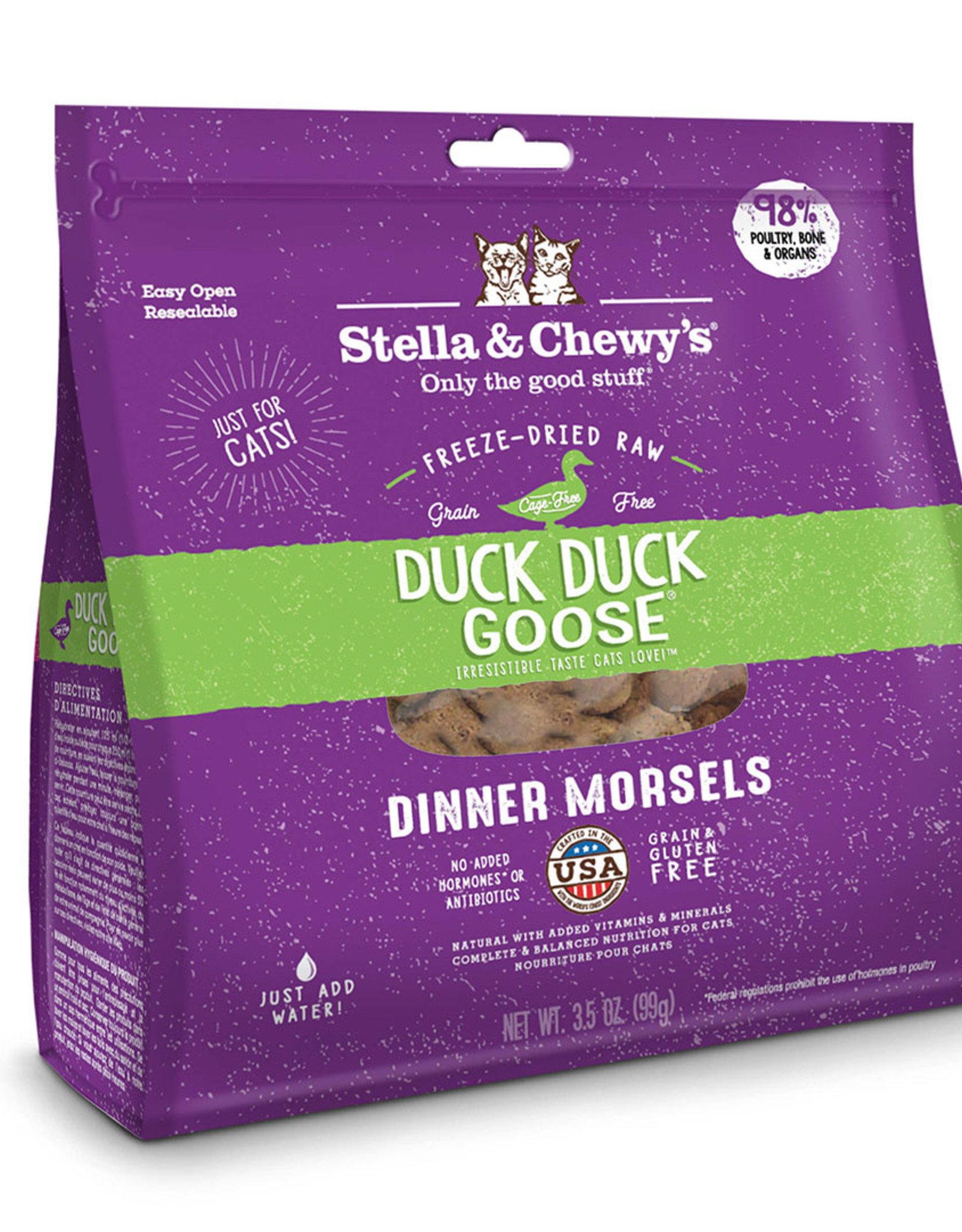 Stella & Chewy's Cat Duck Duck Goose Freeze-Dried Raw Dinner 18oz