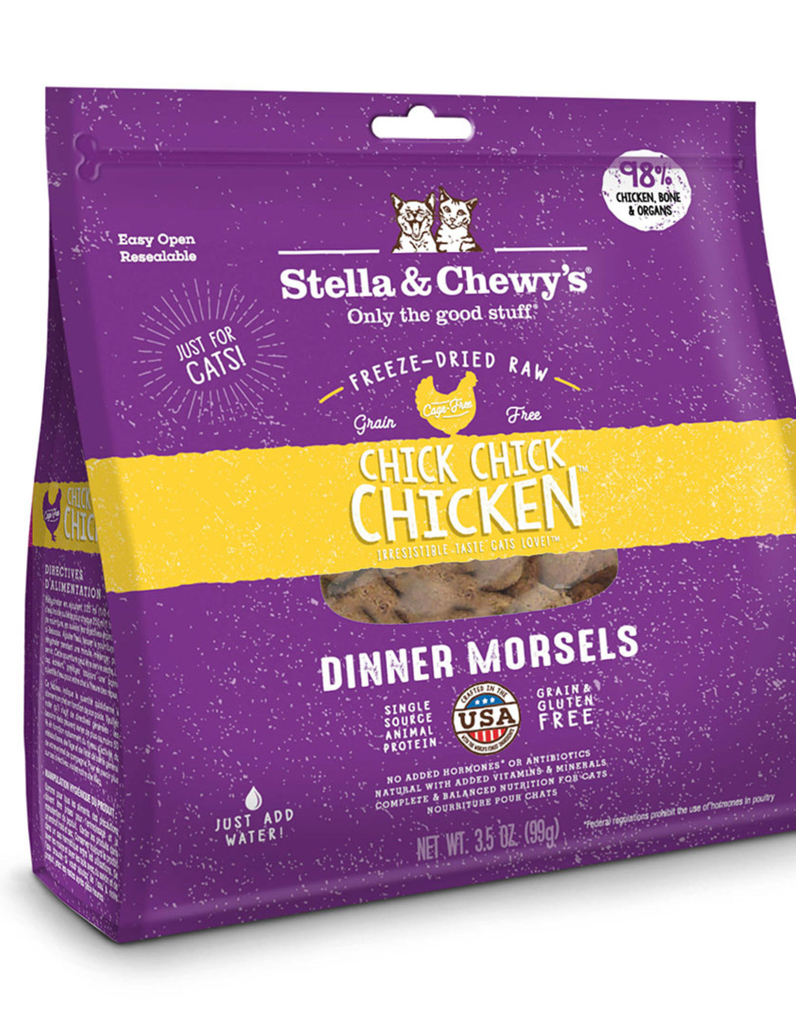 Stella & Chewy's Chick, Chick Chicken Freeze-Dried Raw Dinner 18oz