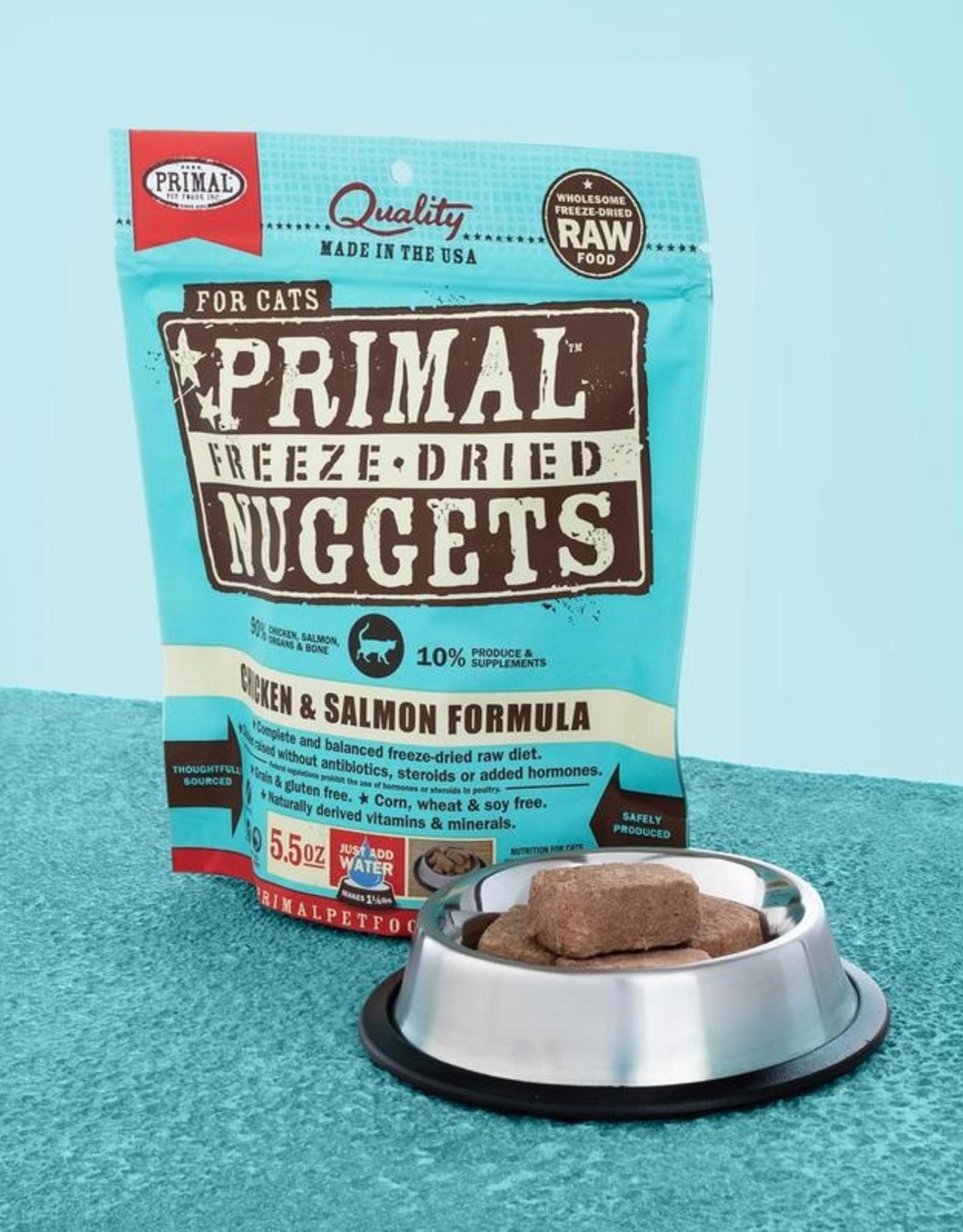 Primal Pet Foods Cat Raw Freeze-Dried Chicken & Salmon 14oz