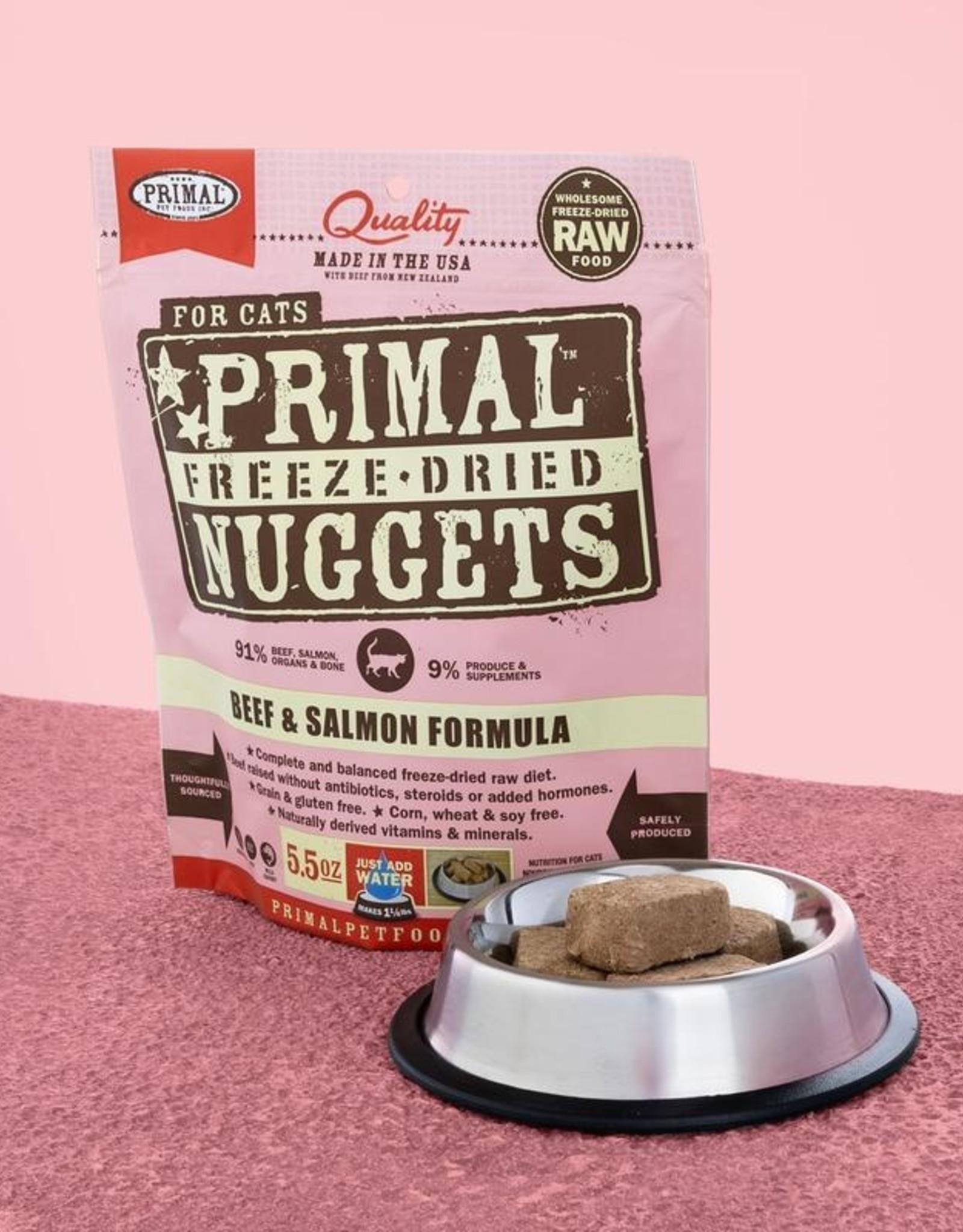 Primal Pet Foods Cat Raw Freeze-Dried Beef & Salmon 14oz