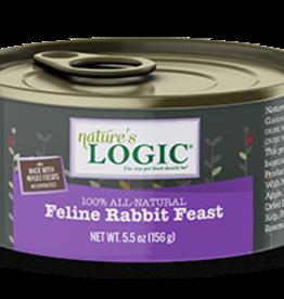 Natures Logic Cat Rabbit Feast Pate - Grain-Free 5.5oz