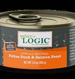Natures Logic Cat Duck & Salmon Feast Pate - Grain-Free 5.5oz
