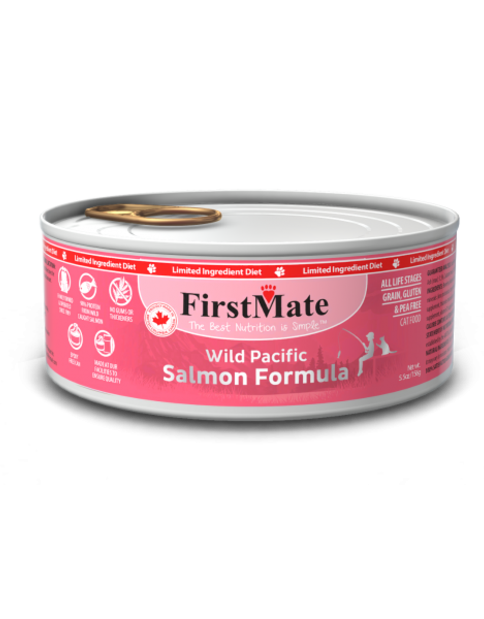 FirstMate Pet Food Cat LID Salmon Pate - Grain-Free 5.5oz