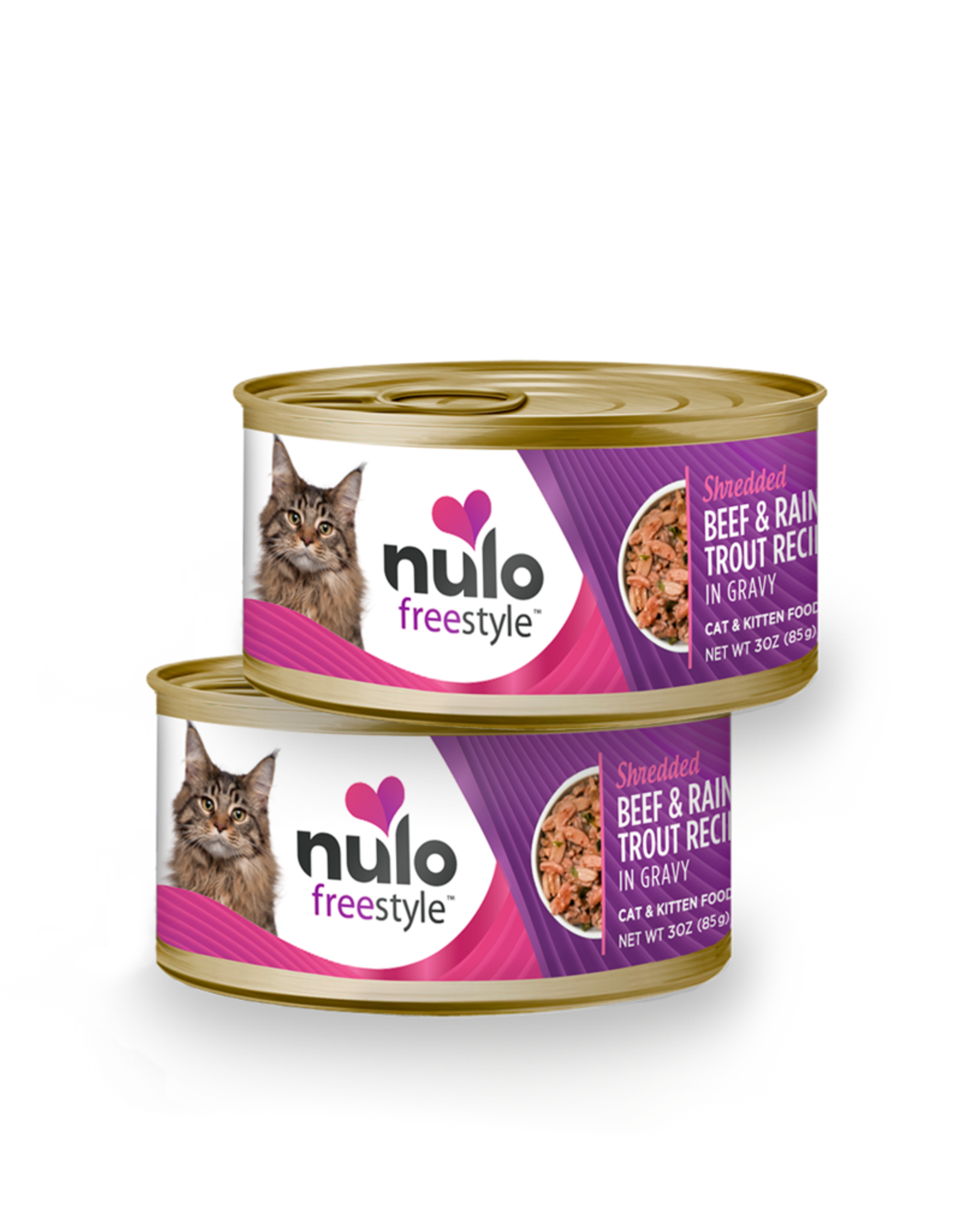 Nulo Cat Beef & Trout Shredded - Grain-Free 3oz