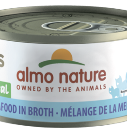 Almo Nature Cat HQS Mixed Seafood in Broth - Grain-Free 2.47oz