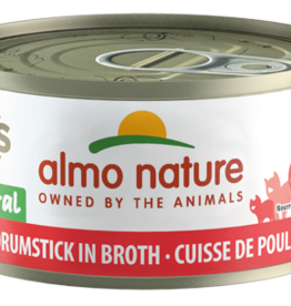 Almo Nature Cat HQS Chicken Drumstick in Broth - Grain-Free 2.47oz