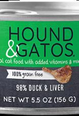 Hound & Gatos Cat 98% Duck Pate - Grain-Free 5.5oz