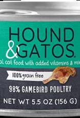 Hound & Gatos Cat 98% Gamebird & Poultry Pate - Grain-Free 5.5oz