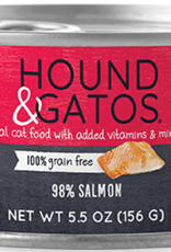 Hound & Gatos Cat 98% Salmon Pate - Grain-Free 5.5oz