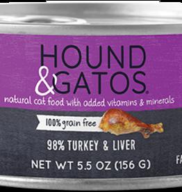 Hound & Gatos Cat 98% Turkey Pate - Grain-Free 5.5oz