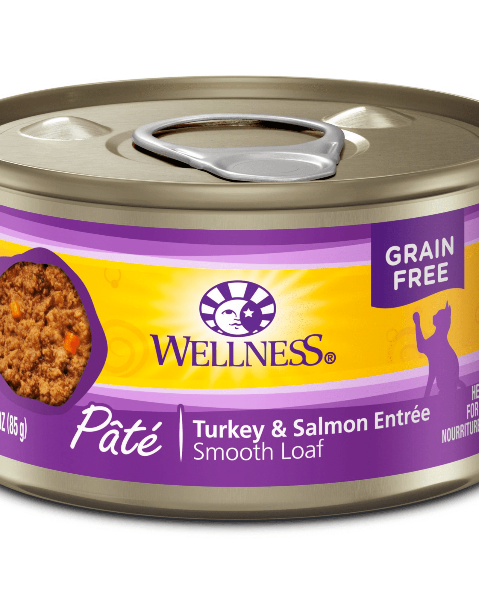 Wellness Pet Food Cat Complete Turkey & Salmon Pate - Grain-Free 5.5oz