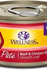Wellness Pet Food Cat Complete Beef & Chicken Pate - Grain-Free 5.5oz