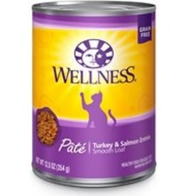 Wellness Pet Food Cat Complete Turkey & Salmon Pate - Grain-Free 12oz