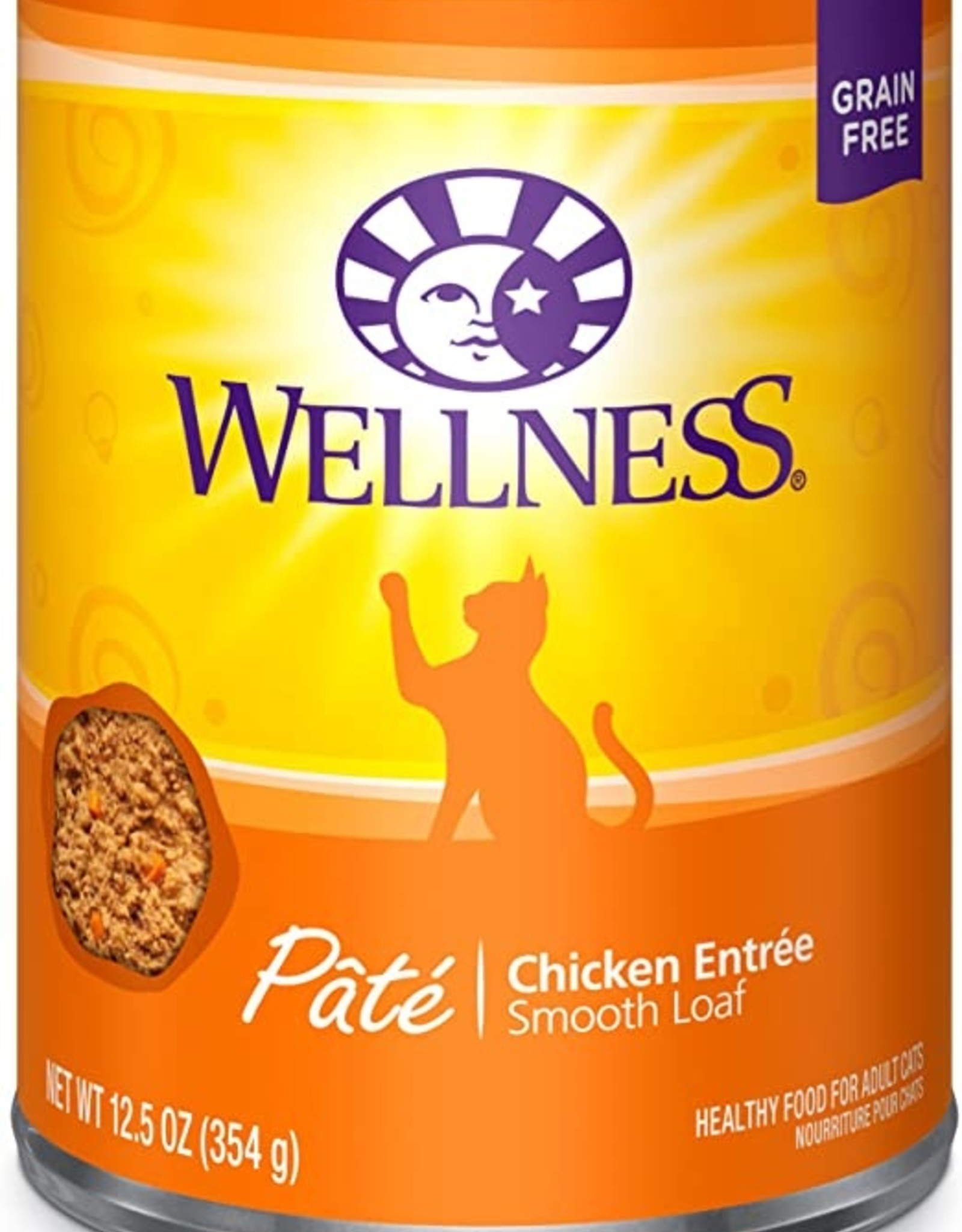 Wellness Pet Food Cat Complete Chicken Pate - Grain-Free 12oz
