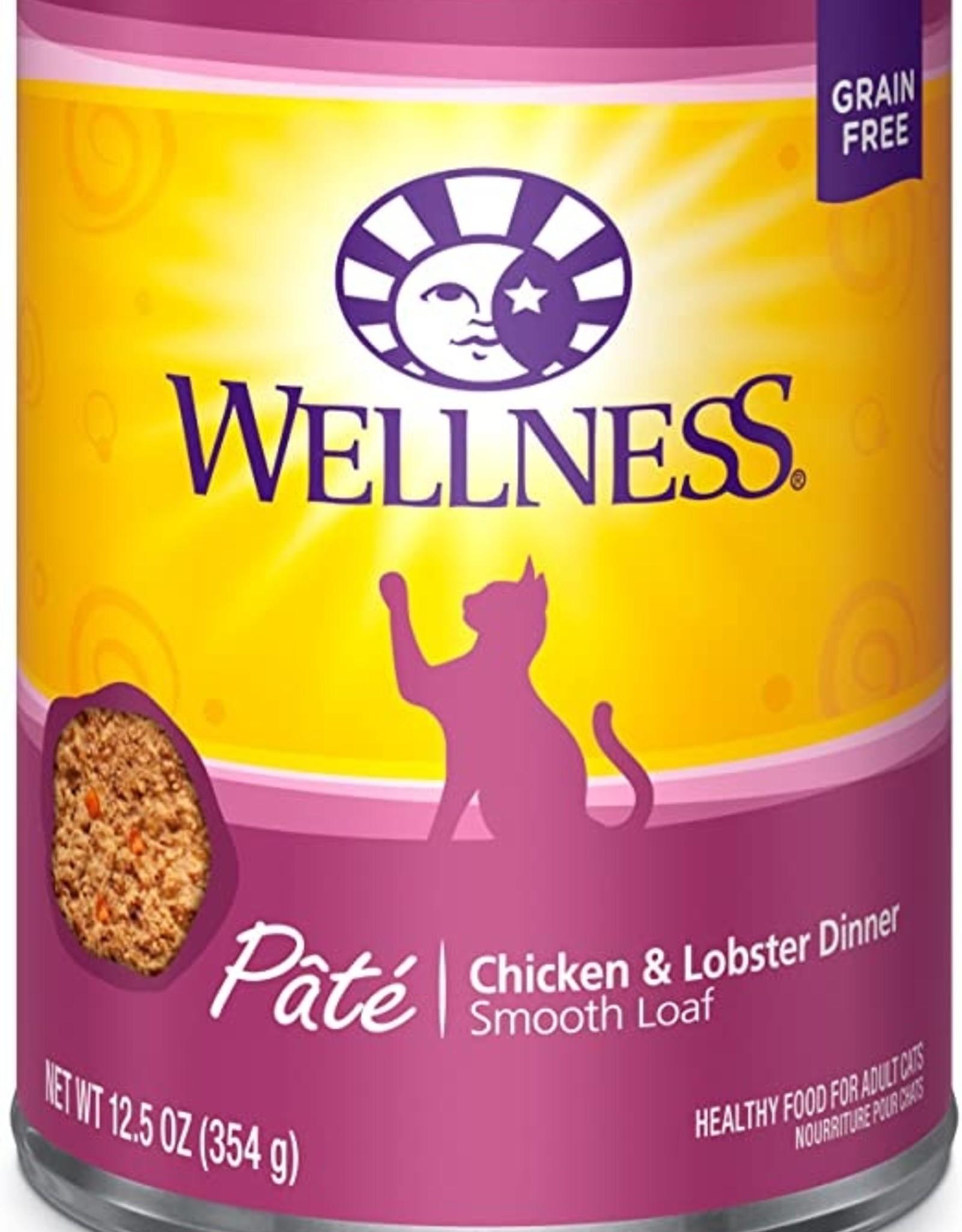 Wellness Pet Food Cat Complete Chicken & Lobster Pate - Grain-Free 12oz