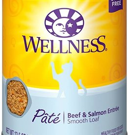 Wellness Pet Food Cat Complete Beef & Salmon Pate - Grain-Free 12oz