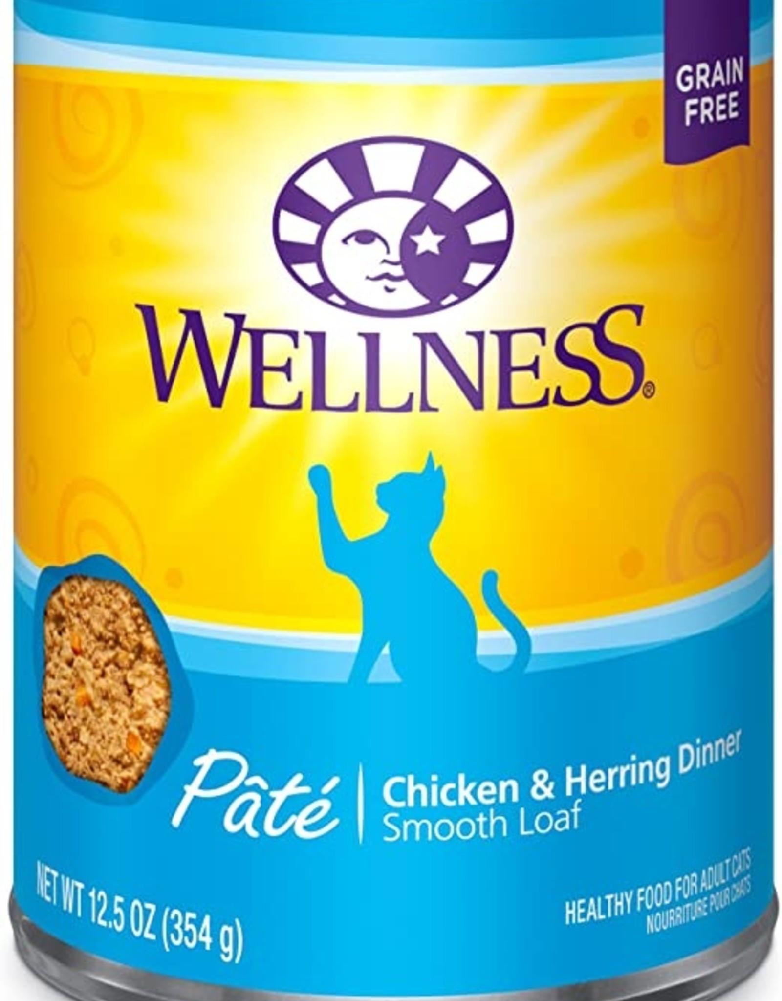 Wellness Pet Food Cat Complete Chicken & Herring Pate - Grain-Free 12oz